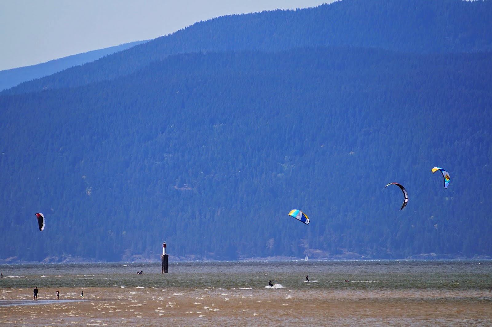 Кайтсерфинг на пляже Джерико