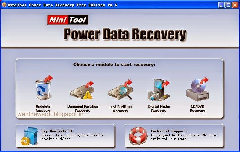 MiniTool Power data recovery personal version 6.8 images