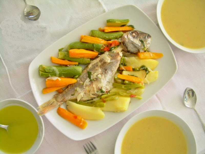 Boiled fish and fish soup, Mediterranean Diet, The Cretan Diet,