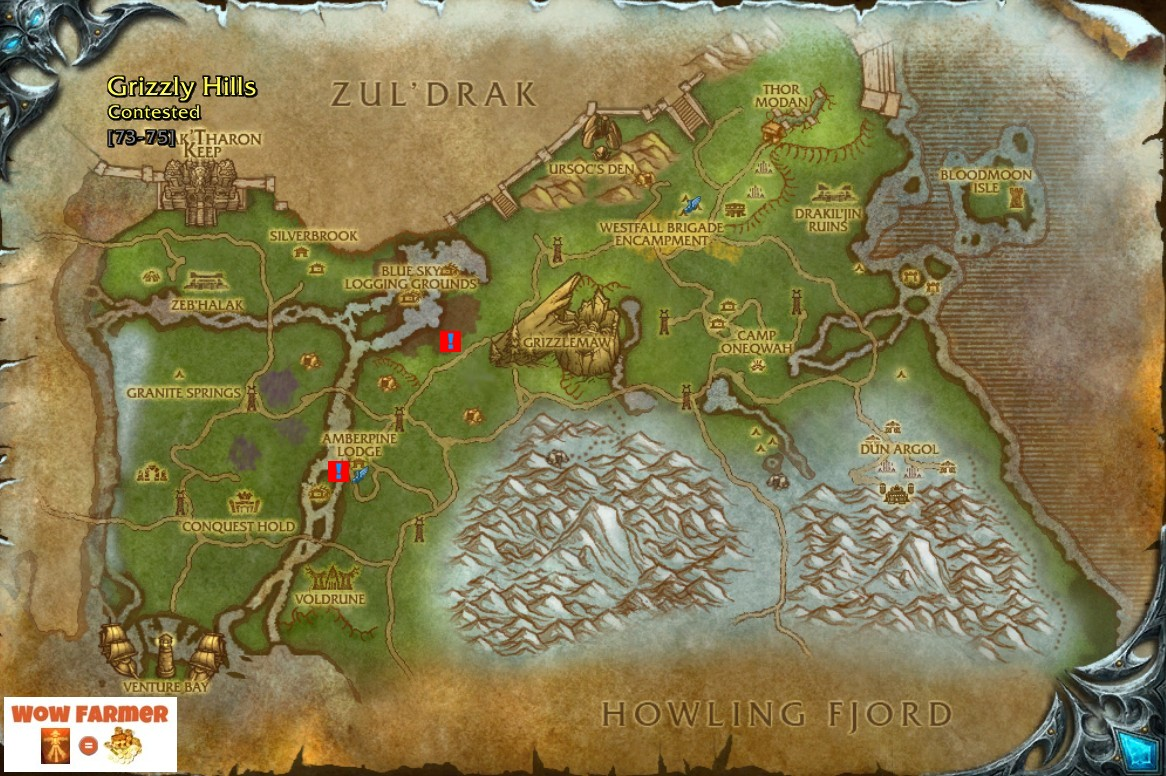 The Image Above Shows Where Quest Giver Rheanna Is Located See Red Square With Blue Exclamation Mark Upper Right Side This Area Called