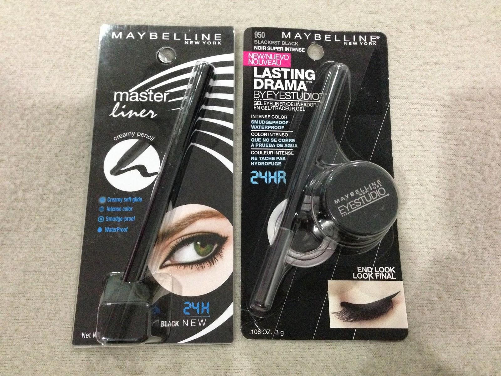 Maybelline 'Master liner' and 'Lasting Drama Gel Eyeliner'
