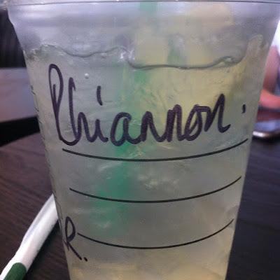 Cardiff Starbucks Drink Rhiannon