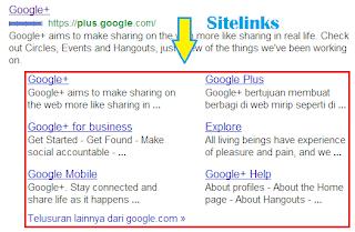 Google Webmaster Sitelinks