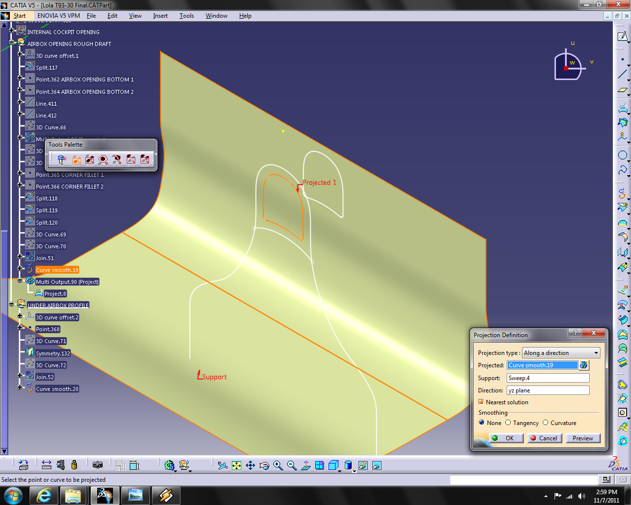 how to close an open profile in catia