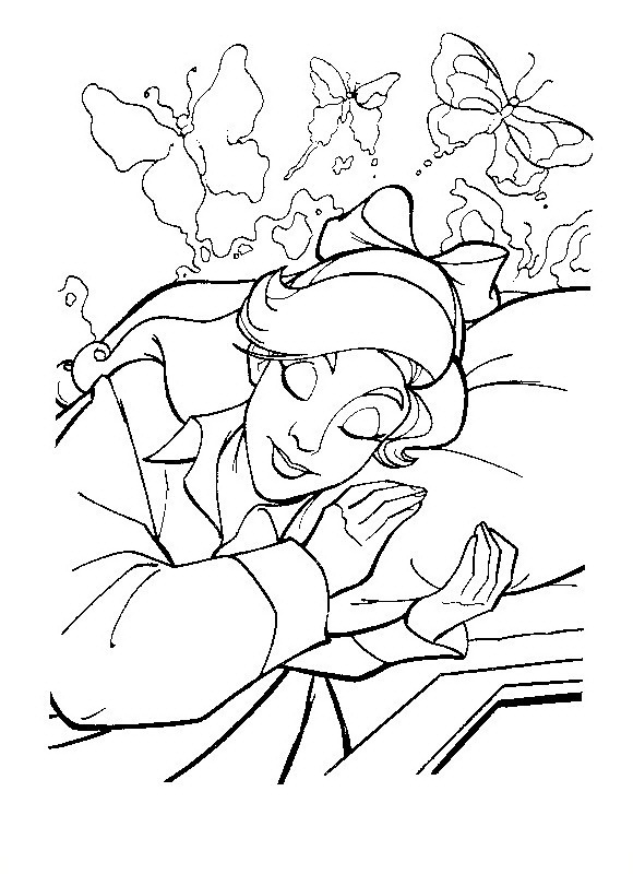 Anastasia Durmiendo para colorear - Dibujo Views