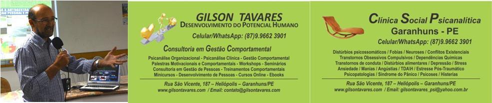 Gilson Tavares Psicanálise Organizacional e Desenvolvimento de Pessoas