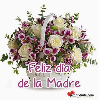 Flores blancas  para el día de la madre