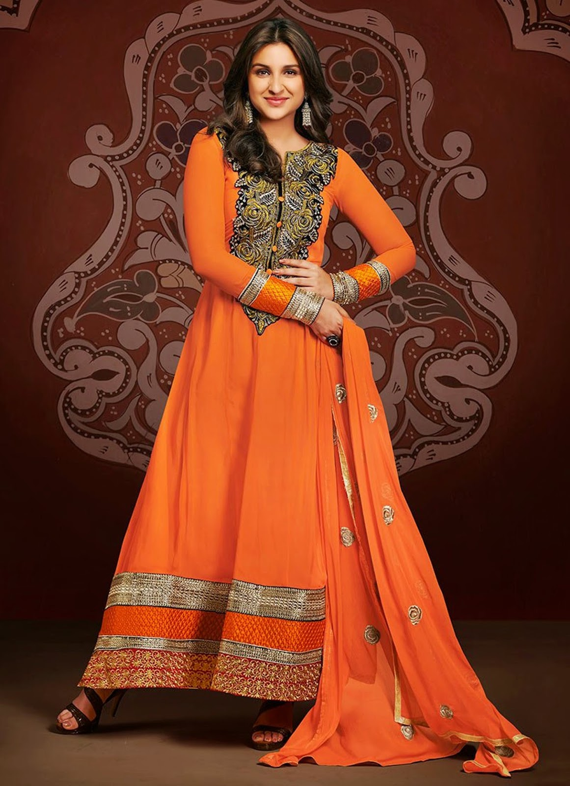 Parineeti Chopra Anarkali Suit Wallpapers Free Download