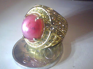 Batu Cincin Ruby Star Afrika