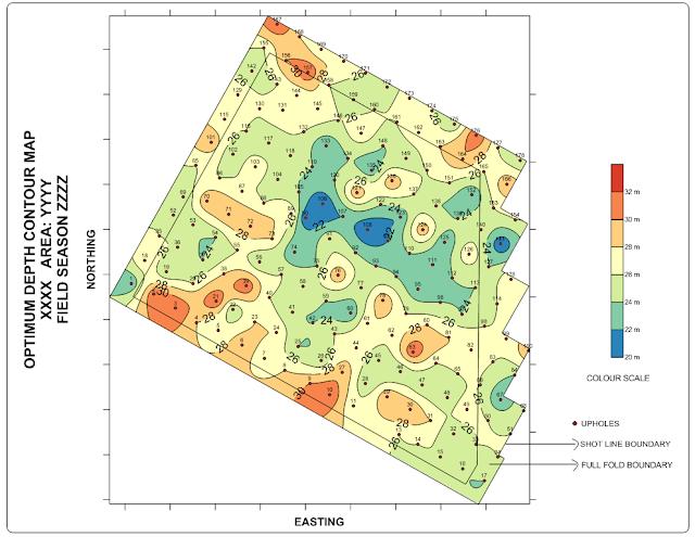 Optimum Depth Contour map