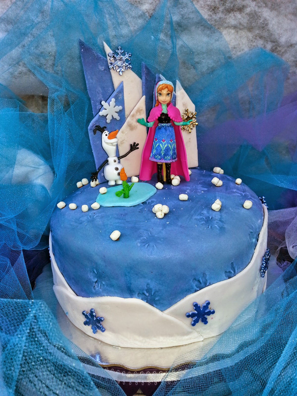 Nana 39 s theme party disney frozen anna and olaf cake - Frozen anna and olaf ...