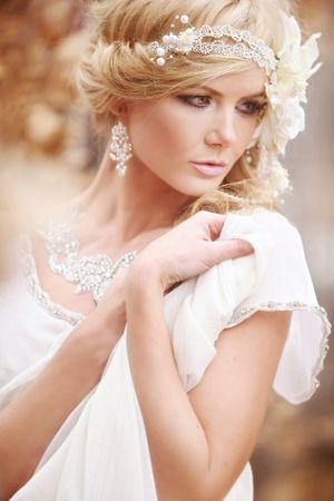 Yandan dağınık topuz gelin düğün saç modelleri 2013