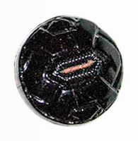 Antique Round Black Glass Molded Buttons