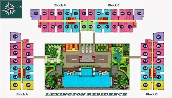 Sơ đồ căn hộ Lexington quận 2