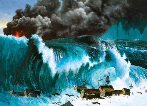 Can anyone tell me about the mythological origin of Tsunami?