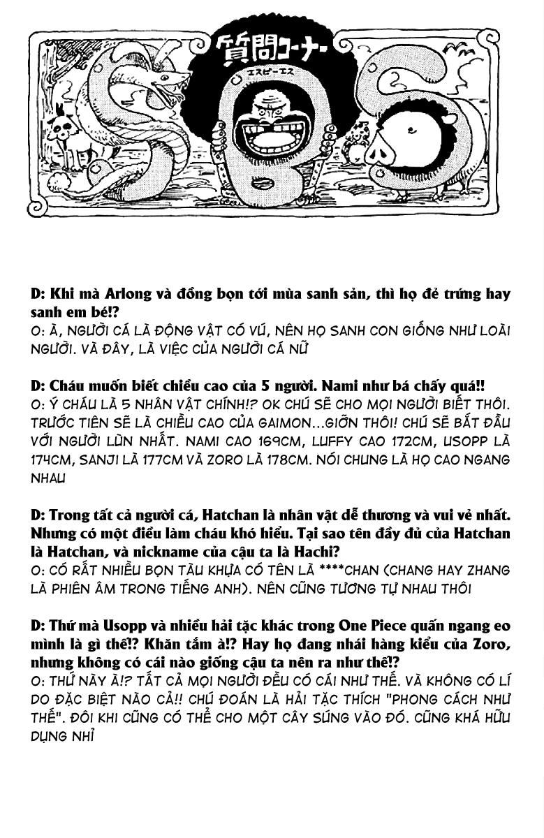 One Piece - Góc Hỏi Đáp SBS Chap 10 - Truyen.Chap.VN