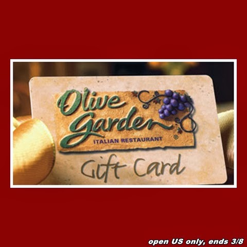 30 Olive Garden Gift Card Giveaway