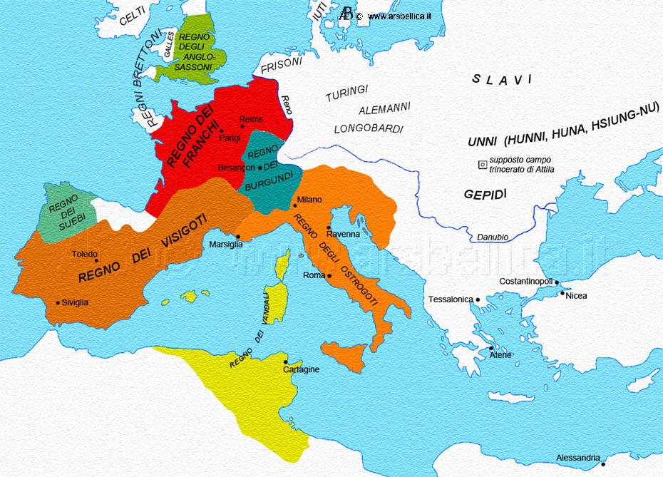 I Cammini Gregoriani nel V° Secolo d.C.