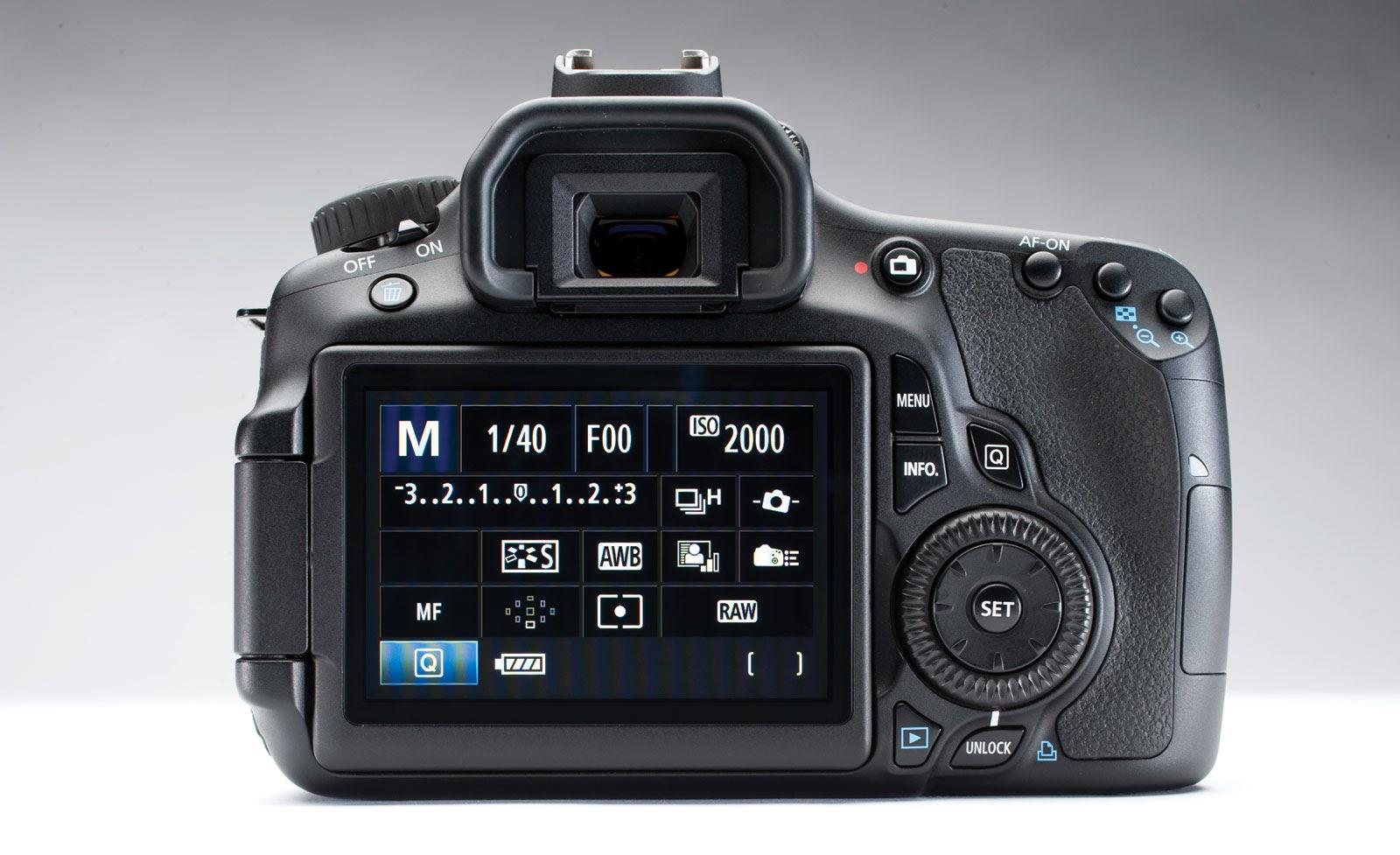 Foto Kamera Canon EOS 60D Tampilan LCD