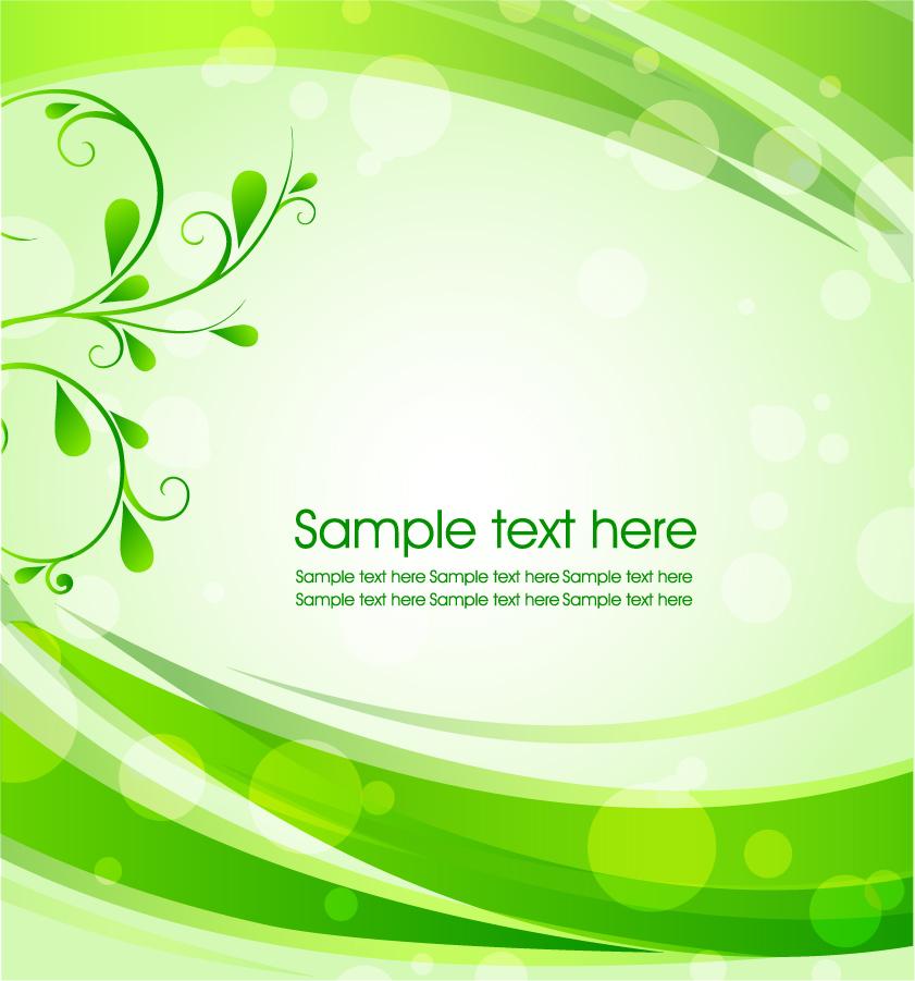 緑の蔓と曲線の背景 green leaf background イラスト素材