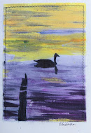Textile Card: painted with dyes