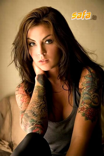 cool tattoos. hot tattoo girl. sexy girl