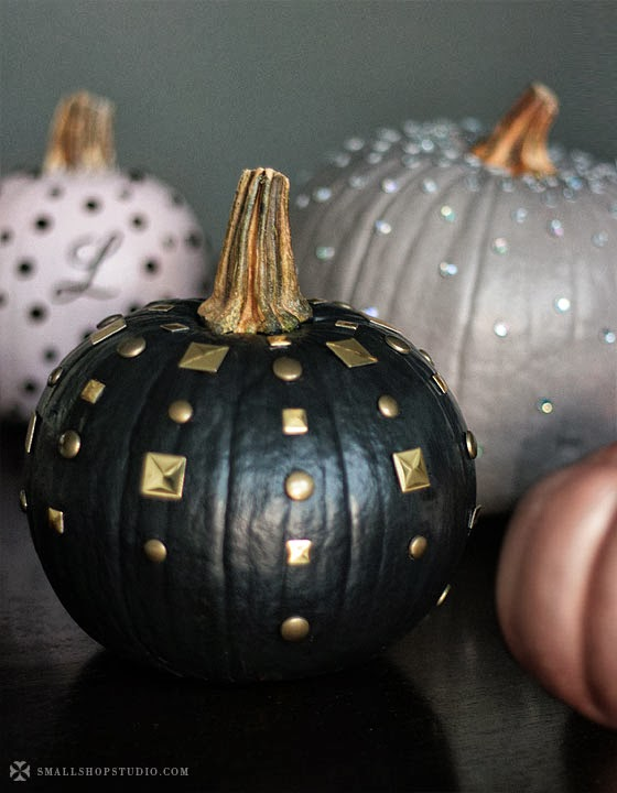 black studded pumpkin
