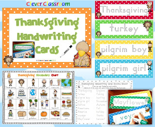 Thanksgiving handwriting center Clever Classroom