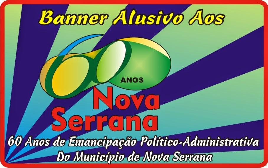 Banner Alusivo Aos 60 Anos de Emancipação Político-Administrativa do Município de Nova Serrana