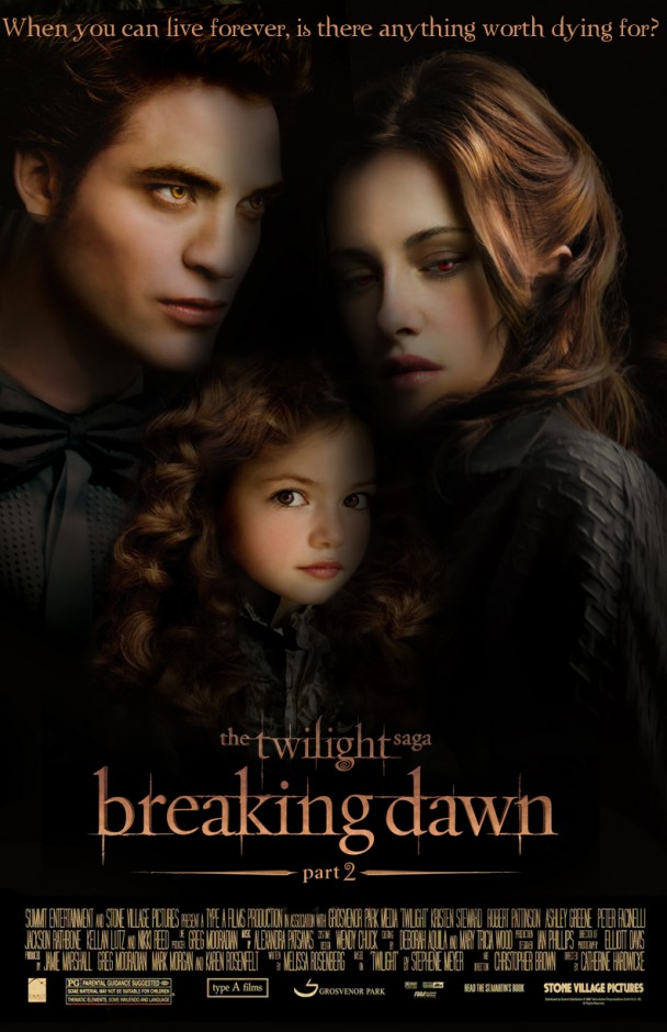 Twilight Saga: Breaking Dawn Part 2 movie poster movieloversreviews.blogspot.com