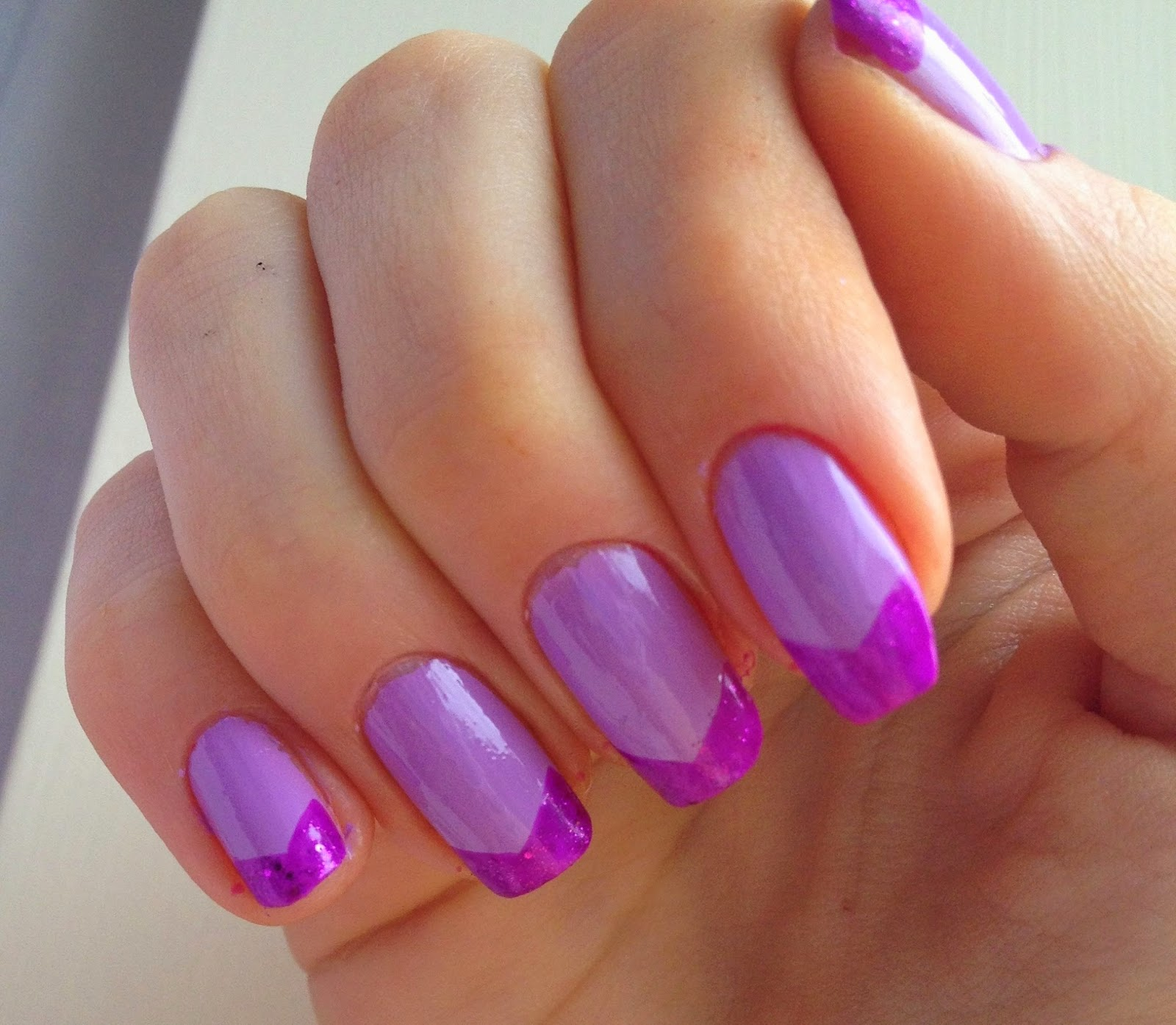 hexagonal-tips-nails-purple