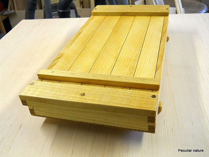Port Orford cedar box oil finish slat top