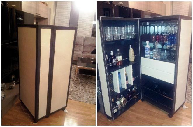Ikea hack el mueble bar besta de mar a - Estanterias besta ikea ...