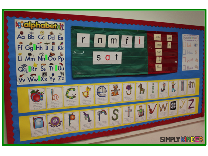 Alphabet Formation Poems Simply Kinder