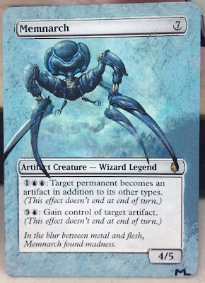 Memnarch altered art Magic the Gathering mtg alter Marc Lake alter