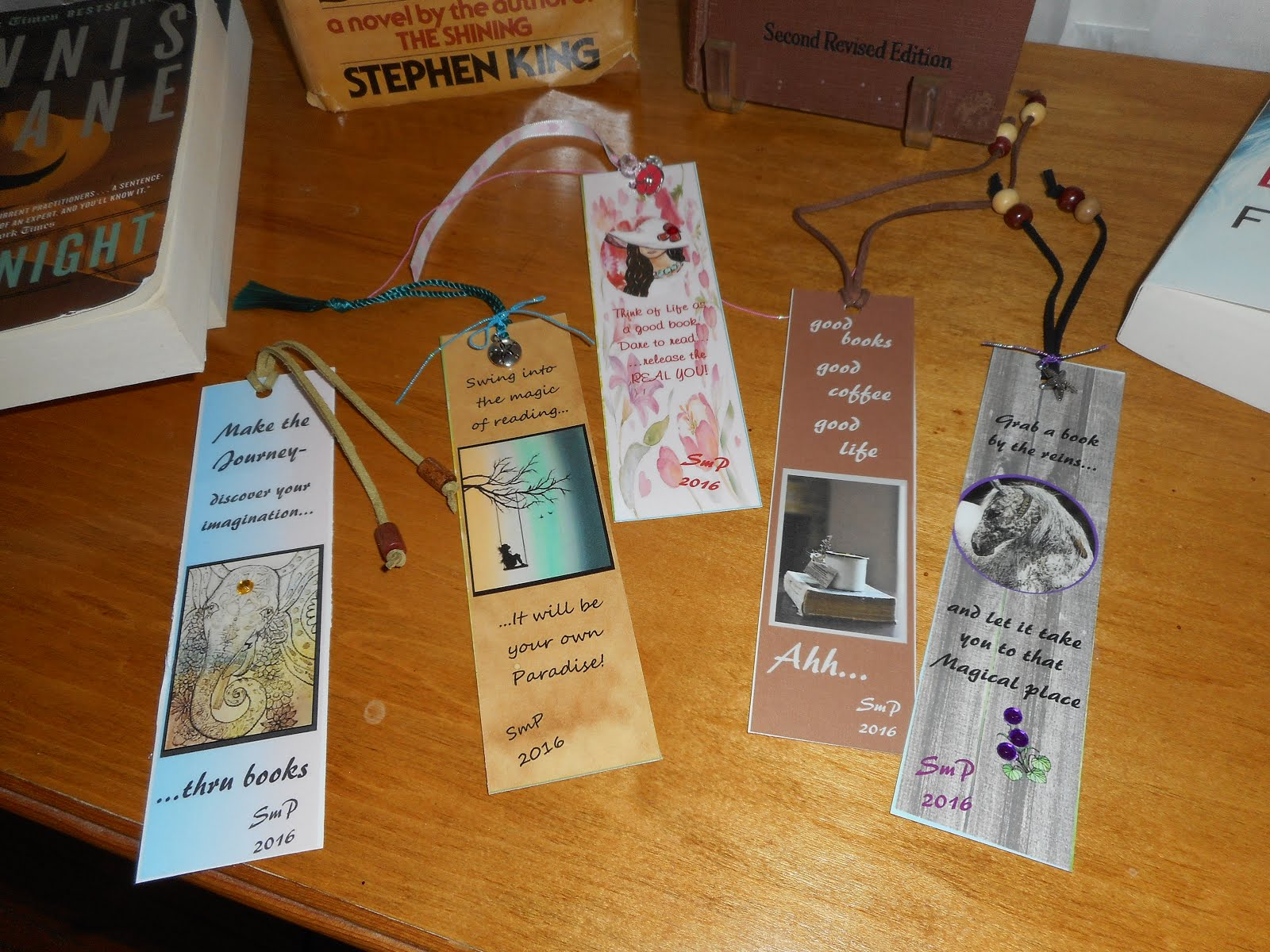 Some of my bookmark designs