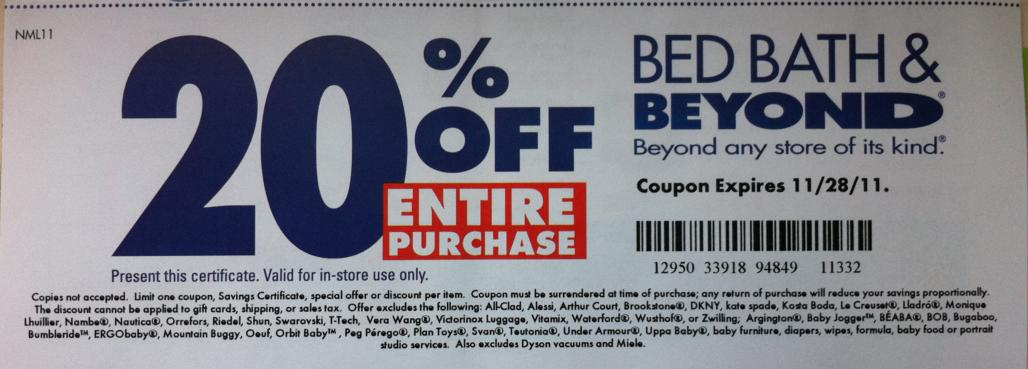 Bed bath beyond discount coupon