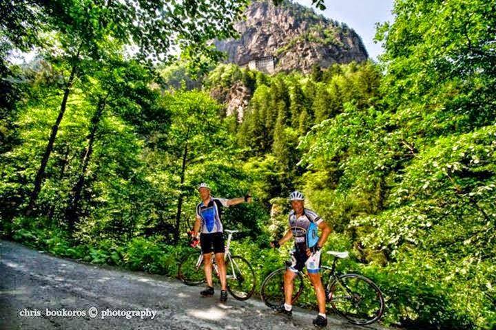 Παρακολουθήστε όλη τη διαδρομή των τριών ποδηλατών προς την Παναγία Σουμελά στην Τραπεζούντα, μέσα από το e-Pontos.gr