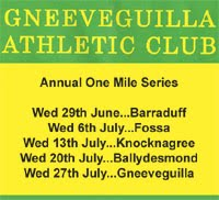 One Mile Race Series in Cork & Kerry...June & July 2016