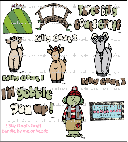 Billy Goats Gruff Clipart images