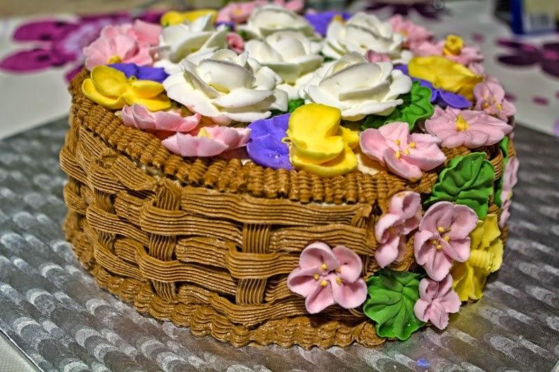 Tarta Cesta De Flores