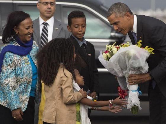 President Obama arrives Ethiopia(Photos)