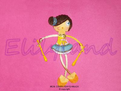 Mini-Elily Muñeca Broche Gimnasta Rítmica Mazas
