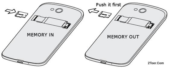 Insert Remove microSD Memory Card HTC One VX ATT