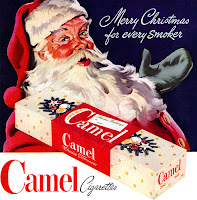 Camel cigarette Merry Christmas for every smoker historic 1960s 1950s advertisement ad