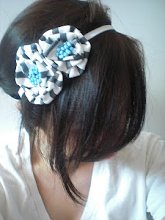 Fabric Flower Headband for Party