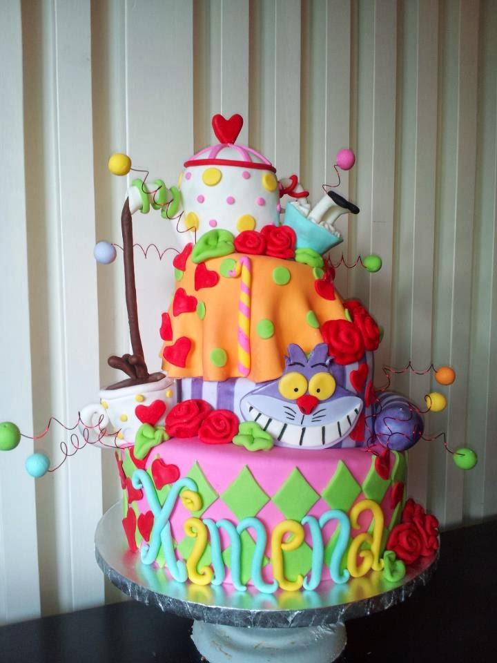 Alice in Wonderland Topsy Turvy Cake These Topsy Turvy Cakes