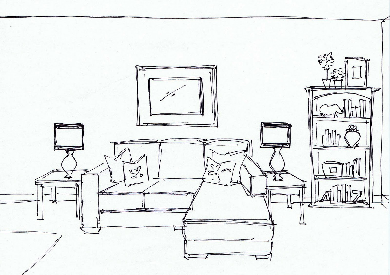 modern living room sketch furniture design living room home
