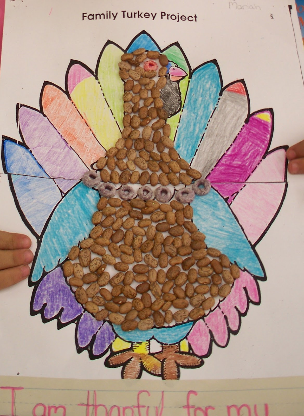 I Heart My Kinder Kids: Family Turkey Project