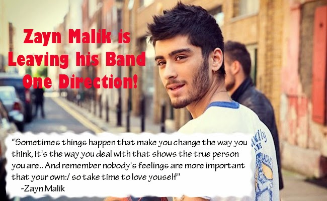 Zayn Malik is Leaving his British Boyband One Direction